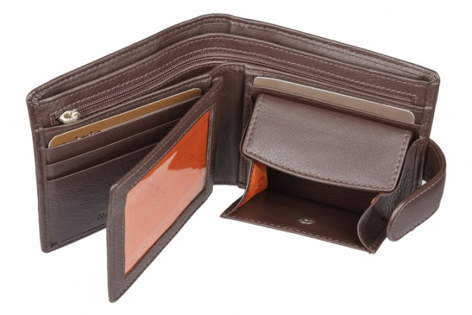 Brown Mala Leather Origin Bi Fold Tab Wallet Style 127 5